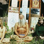 Aare and Julia with guru Mihkel Ram Tamm, late 1970s